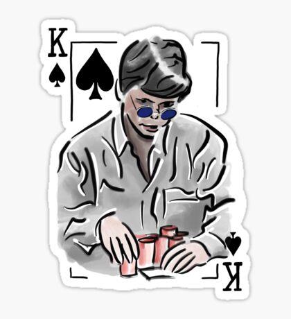 Stu Ungar Poker Glossy Sticker