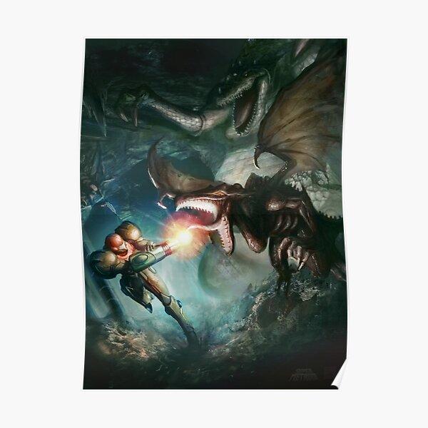 Samus Aran VS. Ridley - El Encuentro Final Póster