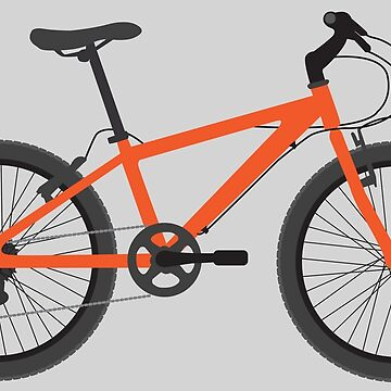 Orange Bicycle with gears by thedrumstick
