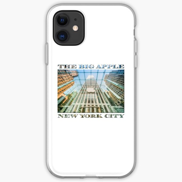 Big Apple in the Big Apple (poster on white) iPhone Soft Case