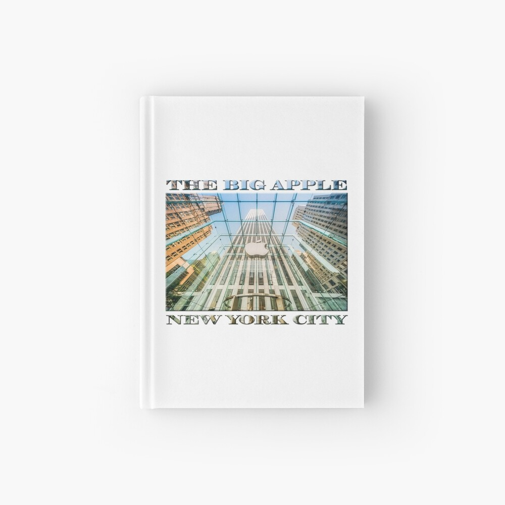 Big Apple in the Big Apple (poster on white) Hardcover Journal