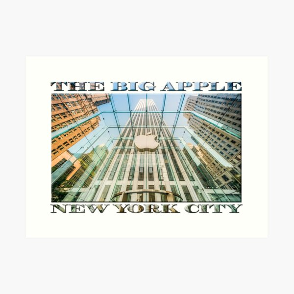 Big Apple in the Big Apple (poster on white) Art Print