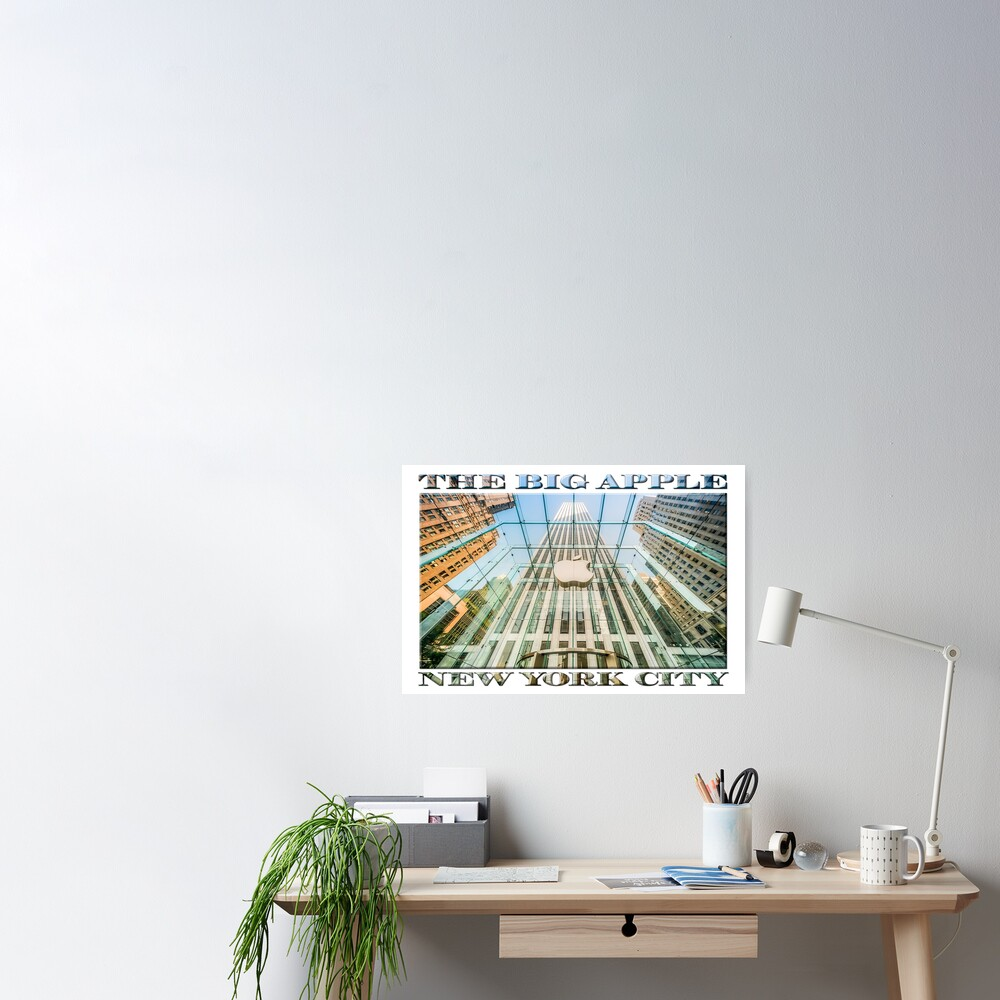 Big Apple in the Big Apple (poster on white) Poster