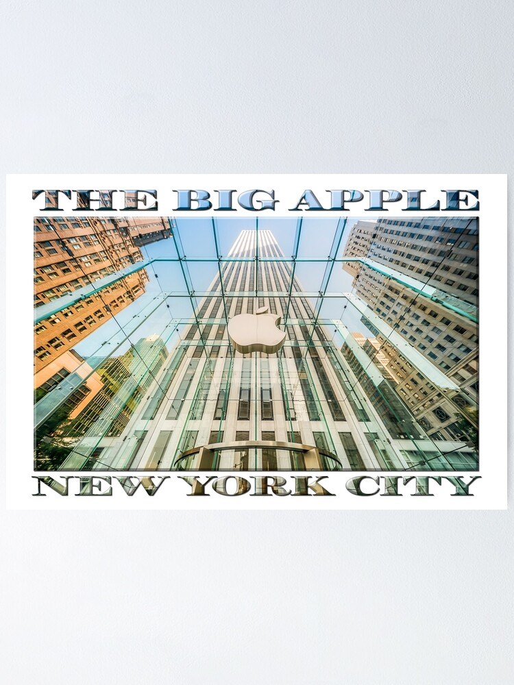 Alternate view of Big Apple in the Big Apple (poster on white) Poster