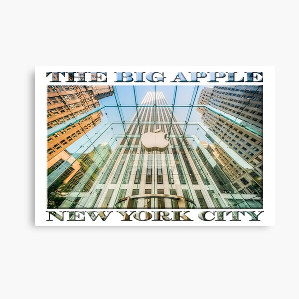 Big Apple in the Big Apple (poster on white) Canvas Print