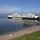 ferry Chelan at Mukilteo by Rhonda R Clements