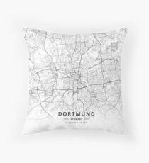 Dortmund, Germany Light Map Dekokissen