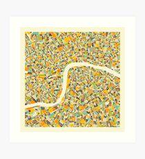 LONDON MAP (3) Art Print