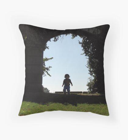 Little man, big stuff! Throw Pillow