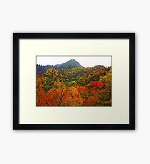 THE CHIMNEY TOPS,AUTUMN Framed Print