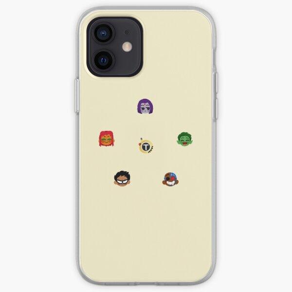 Teen Titans Emojis iPhone Soft Case