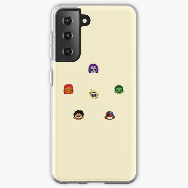 Teen Titans Emojis Funda blanda para Samsung Galaxy