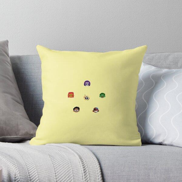 Teen Titans Emojis Throw Pillow