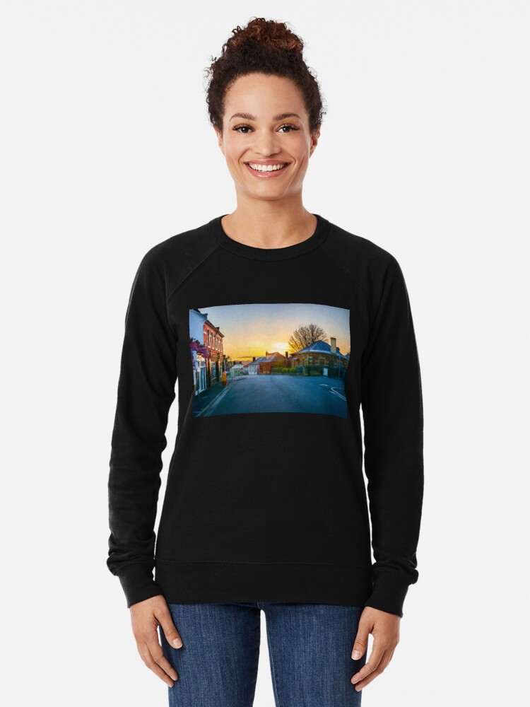 Alternate view of Sunrise at Battery Point Lightweight Sweatshirt
