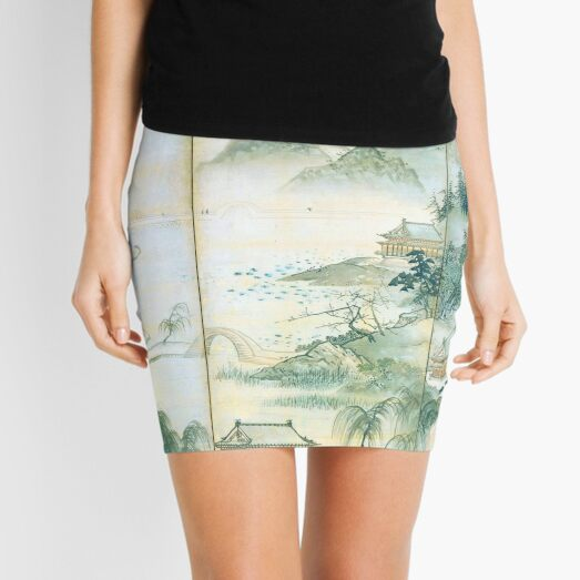 View of West Lake (Restored Japanese Artwork) Mini Skirt