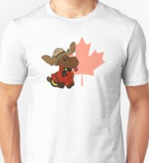 Mountie Moose Unisex T-Shirt