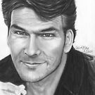 His Eyes Twinkled - Patrick Swayze b. 1952 - d. 2009 by Carliss Mora