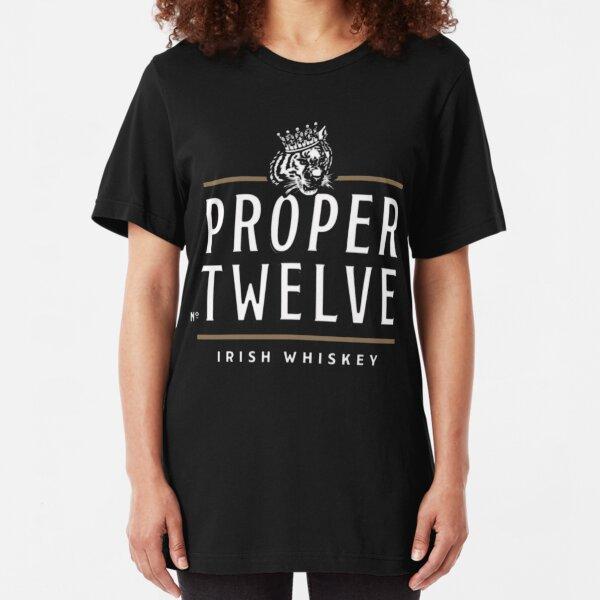 Proper 12 Proper Twelve Irish Whiskey Fan T Shirt Slim Fit T-Shirt