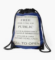 Tardis Drawstring Bag