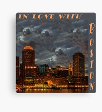 In love with Boston! Canvas Print