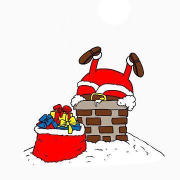 Santa stuck in chimney gift by LikeAPig