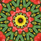 Three peppers. by Margaret Hockney