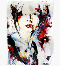 Beauty lies in imperfection, abstract portrait Poster