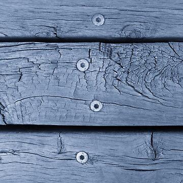 Wood Planks in Smokey Blue by KeksWorkroom
