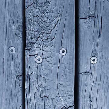 Wood Plank in Smokey Blue - Vertical by KeksWorkroom