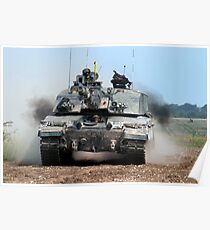 British Army Challenger 2 Kampfpanzer Poster