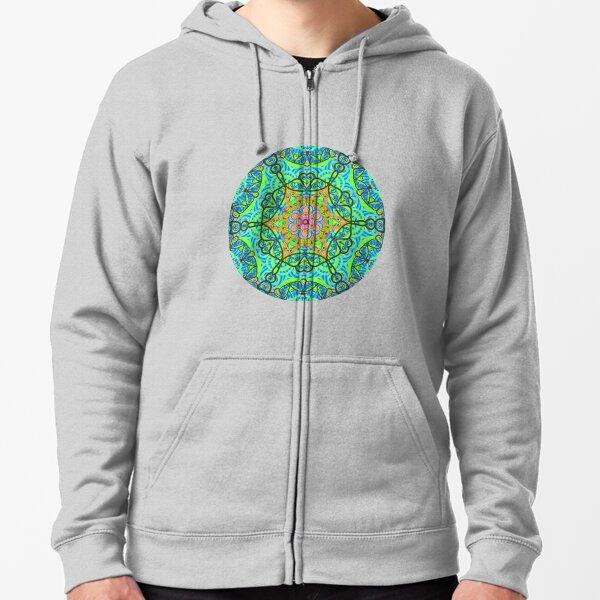 Kaleido Butterfly - Green Zipped Hoodie