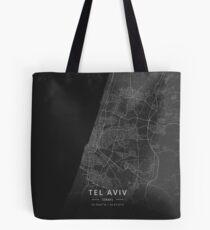 Tel Aviv, Israel Dark Map Tasche