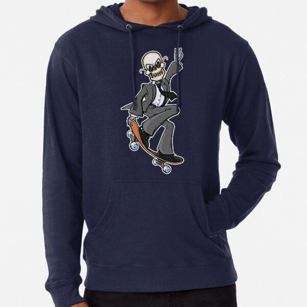 Skeleton Skateboard Design Business Suit Zombie Lightweight Hoodie