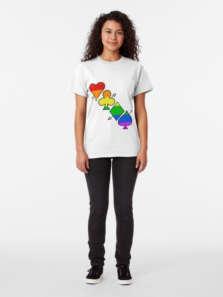 Alternate view of LGBT Poker Classic T-Shirt