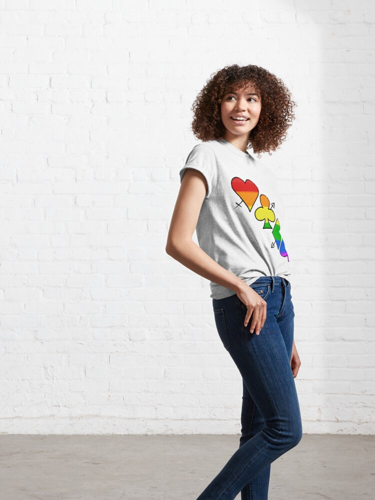 Alternate view of LGBT Poker Classic T-Shirt