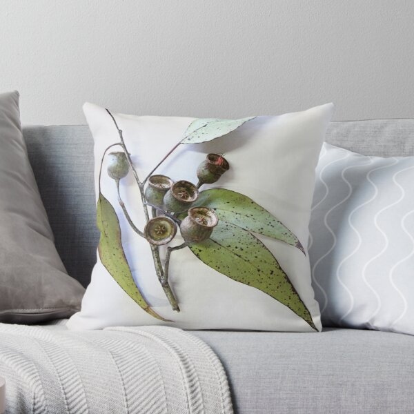 Marri eucalypt leaves and nuts, Western Australia  Throw Pillow
