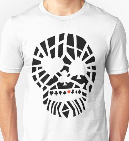 Fractured Poker Skull T-Shirt