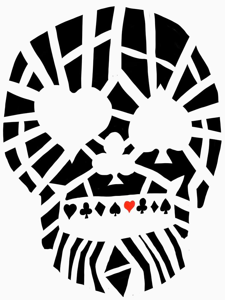 Fractured Poker Skull by fullrangepoker