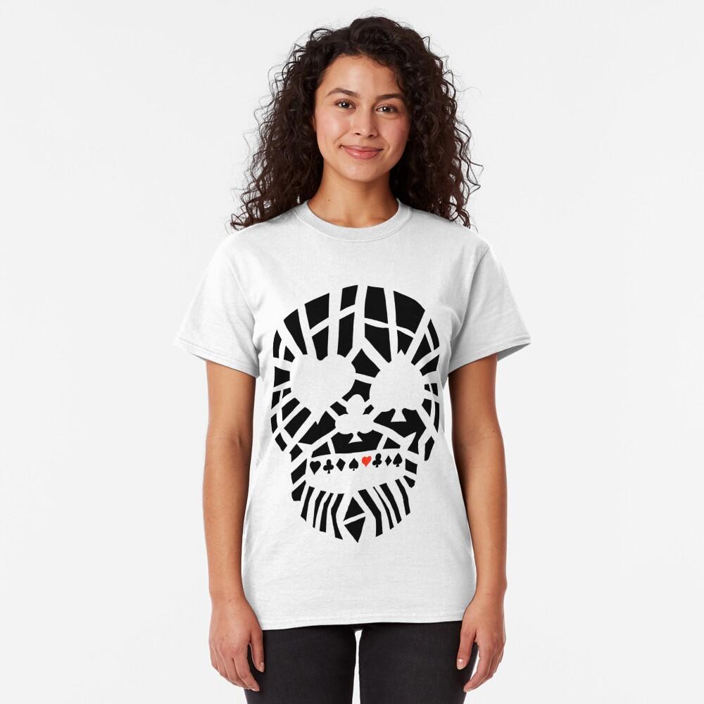 Fractured Poker Skull Classic T-Shirt