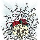 Skull and Roses by Sybille Sterk