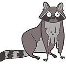 Sitting Raccoon by Annie Royal