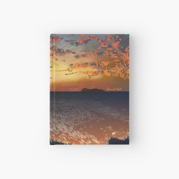 Sunset - Beautiful Ocean View  Hardcover Journal