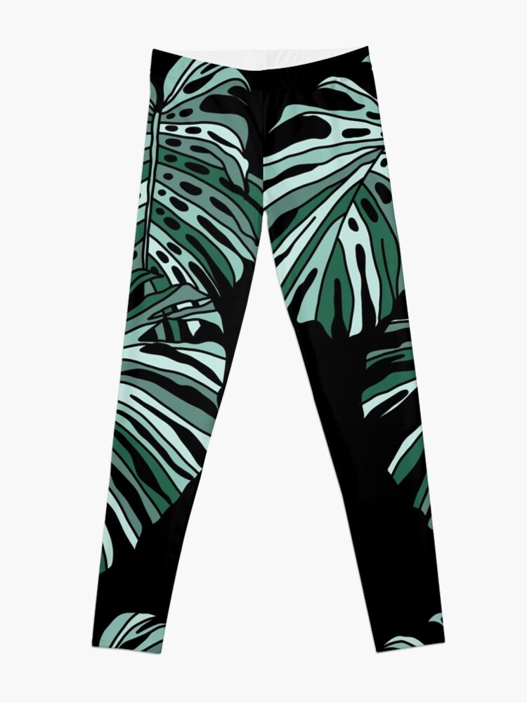 Alternate view of Monstera paradise by Elebea Leggings