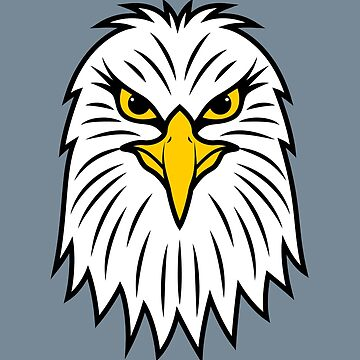 American Bald White Head Eagle Face - Patriotic Shirts and Gifts by mrhighsky