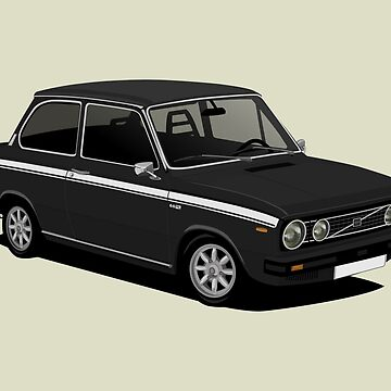 V 66 saloon - young timers illustration -  black by knappidesign