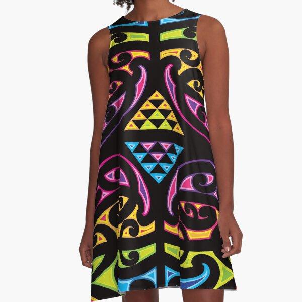 Nga Haue Wha (The Four Winds) A-Line Dress