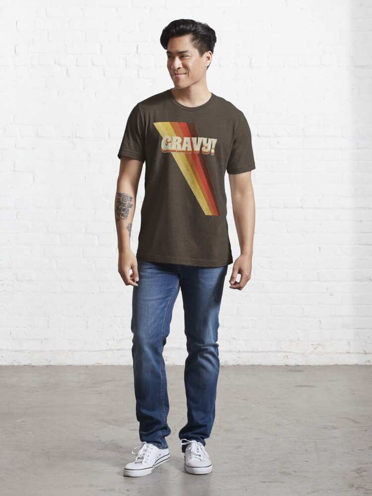Alternate view of Gravy! Seventies 70s Cool Vintage Retro Style Logo Essential T-Shirt