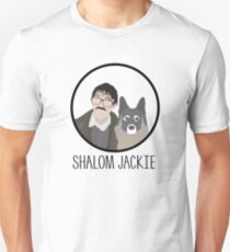 "Friday Night Dinner // ""Shalom Jackie"" - Jim and Wilson Design Unisex T-Shirt"