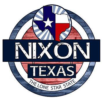 Nixon Texas rustic wood circle by artisticattitud
