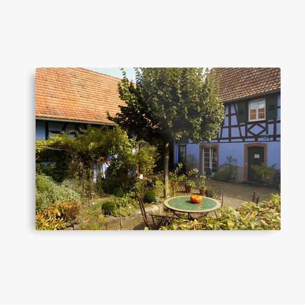 A Garden in Alsace Impression métallique